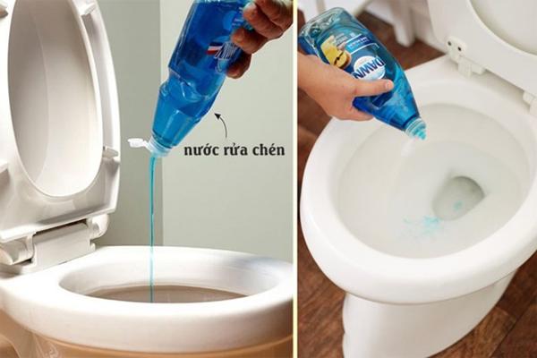 Nước rửa chén làm trơn các mảng bám