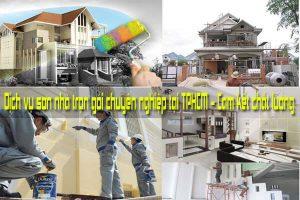 Dịch vụ sơn nhà trọn gói chuyên nghiệp tại TPHCM - Cam kết chất lượng